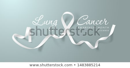 Lung Cancer Awareness Month. Realistic White ribbon symbol. Medical Design. Vector illustration Stock photo © olehsvetiukha