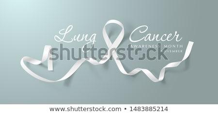 lung cancer awareness month realistic white ribbon symbol medical design vector illustration stock photo © olehsvetiukha