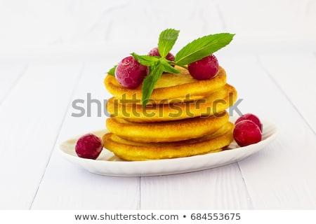 Branco prato caseiro fundo sobremesa Foto stock © Alex9500
