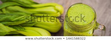 friss · zöld · banán · levél · konzerv · használt - stock fotó © galitskaya