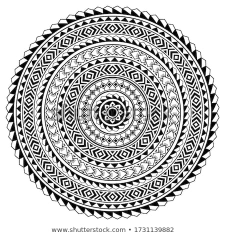 Monochrome Beautiful Decorative Mandala Stock photo © lissantee