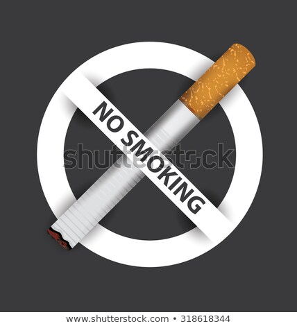 no smoking sign crossed burning cigarette vector stock photo © robuart