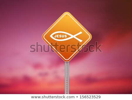 Ichthus Religious Road Sign stock photo © kbuntu