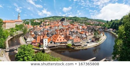 城 橋 チェコ共和国 カバー 石 市 ストックフォト © borisb17