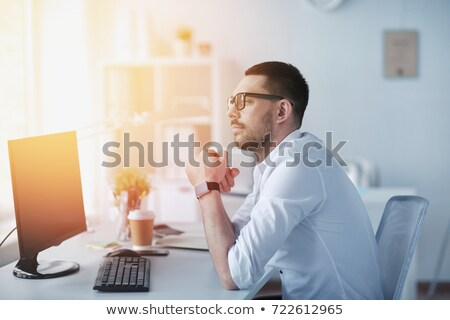 Male professional pondering Stock photo © lichtmeister