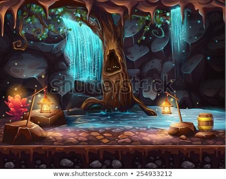 древних пещере элемент Vintage вектора декоративный Сток-фото © pikepicture