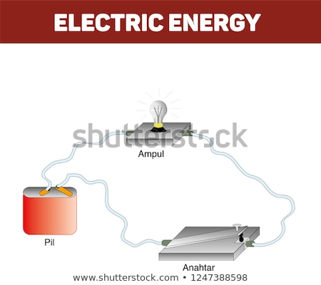 Electric and electronic circuit diagram symbols set of lines, wires, cables and electrical conductor Stock photo © ukasz_hampel