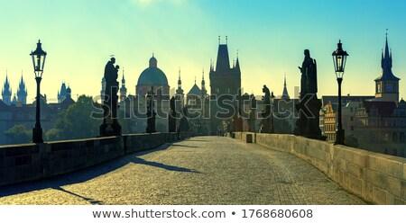 表示 カラフル 旧市街 プラハ 橋 塔 ストックフォト © asturianu