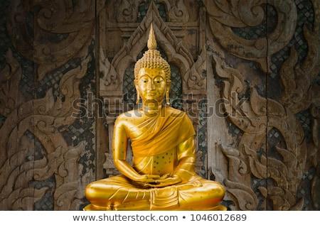Stok fotoğraf: Doku · ahşap · duvar · budist · tapınak · Asya