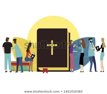 heilig · boek · illustratie · Open · bijbel · papier - stockfoto © rastudio
