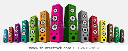 Loud Speaker For Listening Music Color Vector Stock photo © pikepicture