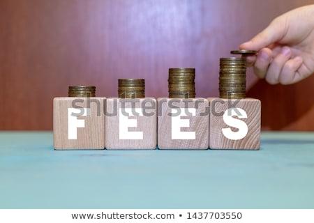 Opłaty monet banku pieniężnych ubezpieczenia Zdjęcia stock © AndreyPopov