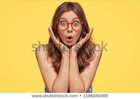 страшно очки люди желтый Сток-фото © dolgachov