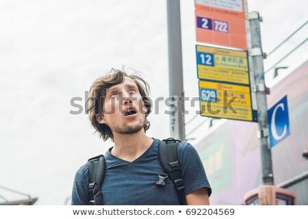Man verloren Hong Kong stad straat schoonheid Stockfoto © galitskaya