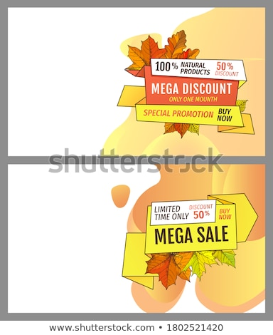 autumn sale and discounts seasonal propositions stock photo © robuart