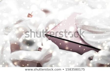 Karácsony mágikus ünnep ünnepi bőrpír rózsaszín Stock fotó © Anneleven