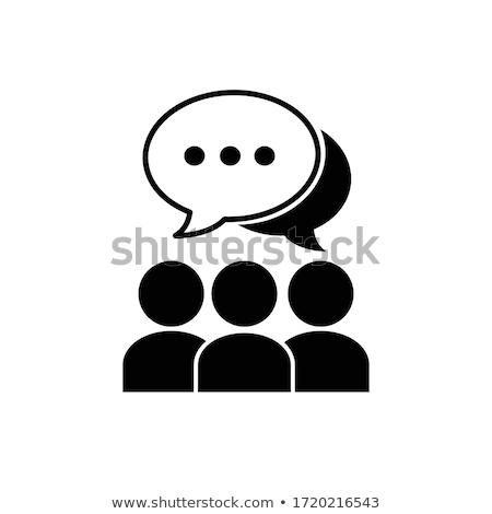 Idea Discussion Icon Vector Outline Illustration Stock photo © pikepicture