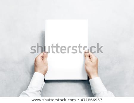 Witte boek tonen ontwerp achtergrond Stockfoto © Photooiasson