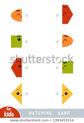 find the  shape halves  logic rhombus Stock photo © Olena