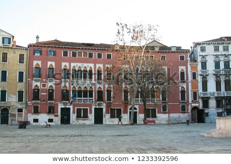 Facade of Buildings on Campo San Polo. Stock photo © ShustrikS
