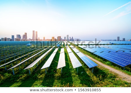 Scene with clean energy in the city Stock photo © bluering