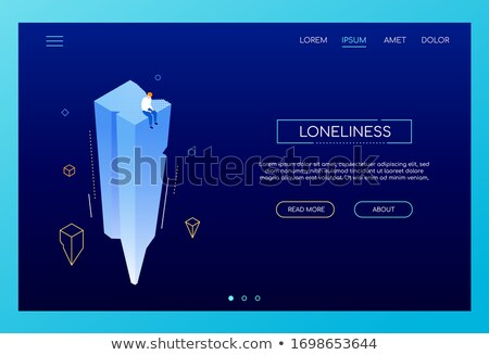 Loneliness concept - modern isometric vector web banner Stock photo © Decorwithme