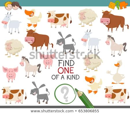 one of a kind task for children with animals Stock photo © izakowski