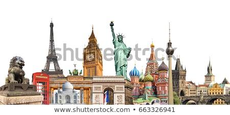 Famoso monumentos alrededor mundo espacio de la copia cielo Foto stock © ShustrikS