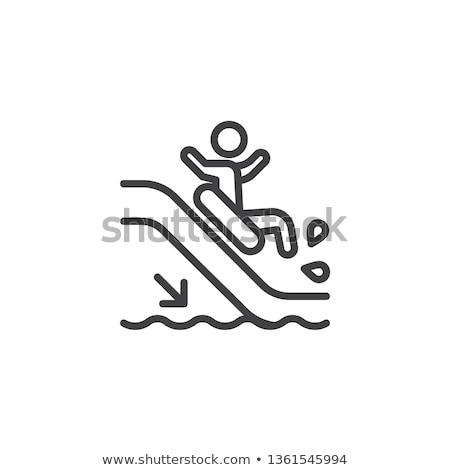 Tobogán icono vector ilustración signo Foto stock © pikepicture