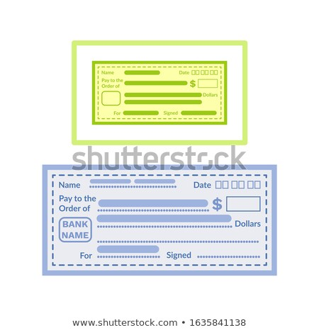 Empty Financial Paper, Fill Information Vector Stock photo © robuart