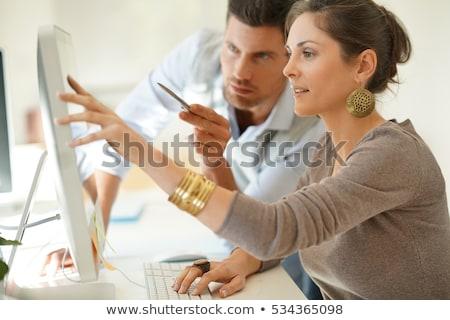 Ofis işleri adam kadın çalışma işyeri vektör Stok fotoğraf © robuart