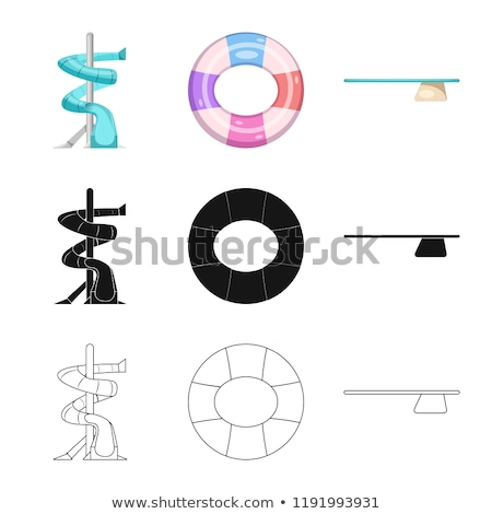 Water Park Attraction Onboarding Elements Icons Set Vector Stock photo © pikepicture