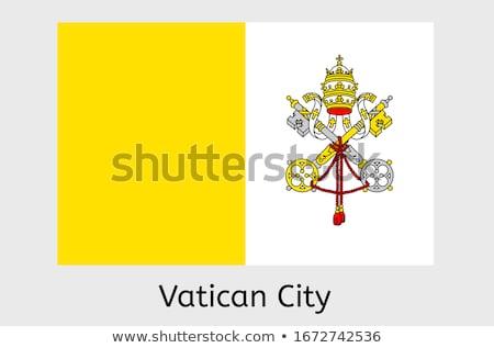 Vatikan bayrak beyaz boya imzalamak bağbozumu Stok fotoğraf © butenkow