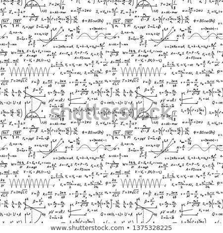 Czarny skomplikowany naukowy wzory biały Zdjęcia stock © evgeny89