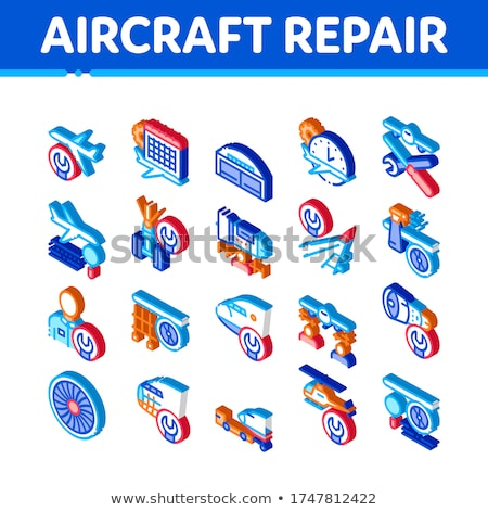 Aeronave reparar ferramenta isométrica vetor Foto stock © pikepicture