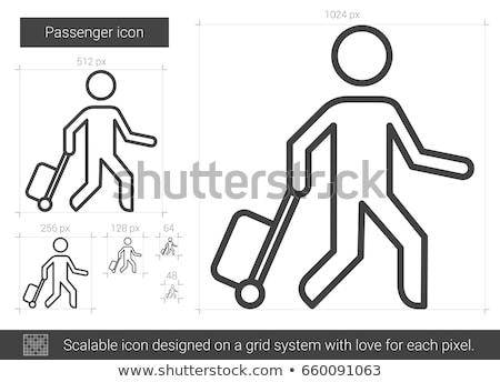 Insanlar bagaj ikon vektör örnek Stok fotoğraf © pikepicture