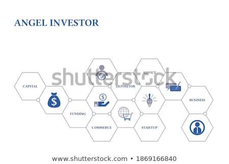 Anjo bandeira empreendedorismo iniciativa Foto stock © RAStudio