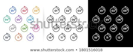 Geometrik kurşun makas sayılar bir oniki Stok fotoğraf © SArts