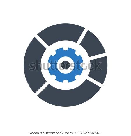 Data Menagement Vector Glyph Icon Stock photo © smoki