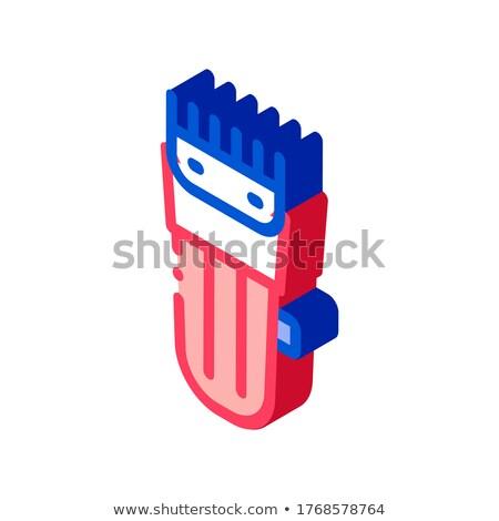Elektronikus borotválás körülvágó izometrikus ikon vektor Stock fotó © pikepicture