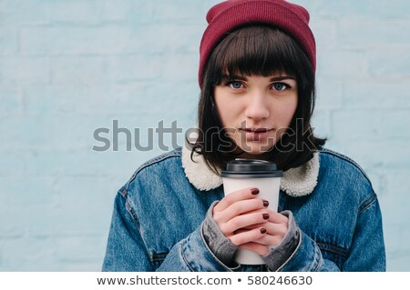 кофе · губ · горячей · напиток · всплеск · кофе - Сток-фото © bartekwardziak
