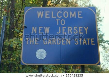Нью-Джерси шоссе знак зеленый США облаке улице Сток-фото © kbuntu