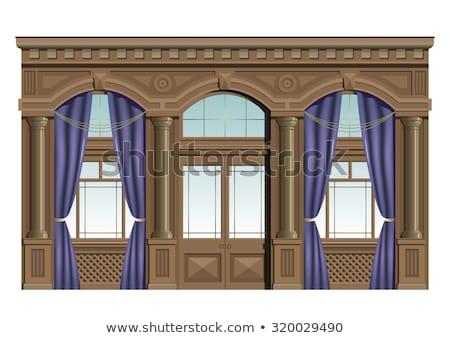 Barocco facciata casa vetro finestra arte Foto d'archivio © Paha_L