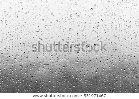Ablak üveg esőcseppek kék absztrakt égbolt Stock fotó © Anna_Om