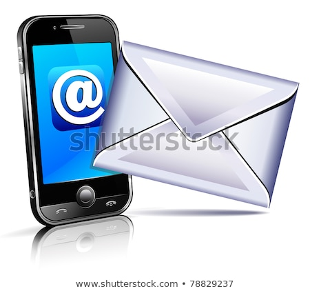 3D Send a letter icon - mobile phone Stock photo © fenton