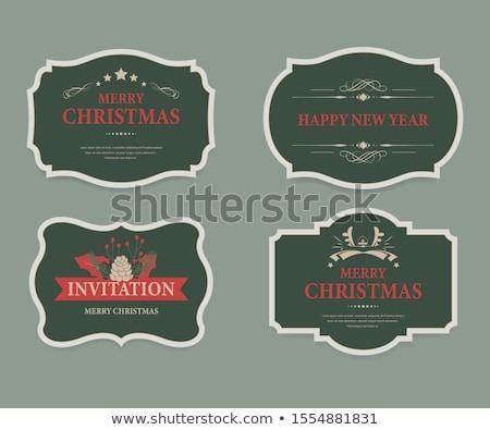 neşeli · Noel · matbaacılık · tırnak · işareti · ayarlamak - stok fotoğraf © orson