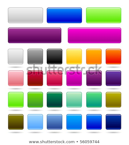 set of green vector web square buttons stock photo © orson