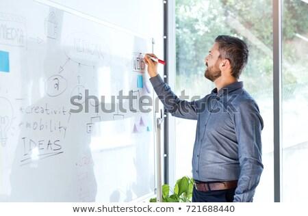 ビジネスマン · 書く · 成功 · 目標 · ビジョン - ストックフォト © ashumskiy