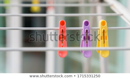 colorful clothespins set for washing clothes stock photo © xaniapops
