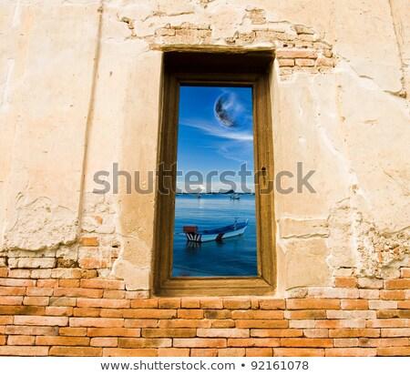 Photo frames 2012 and blue sky Stock photo © stoonn